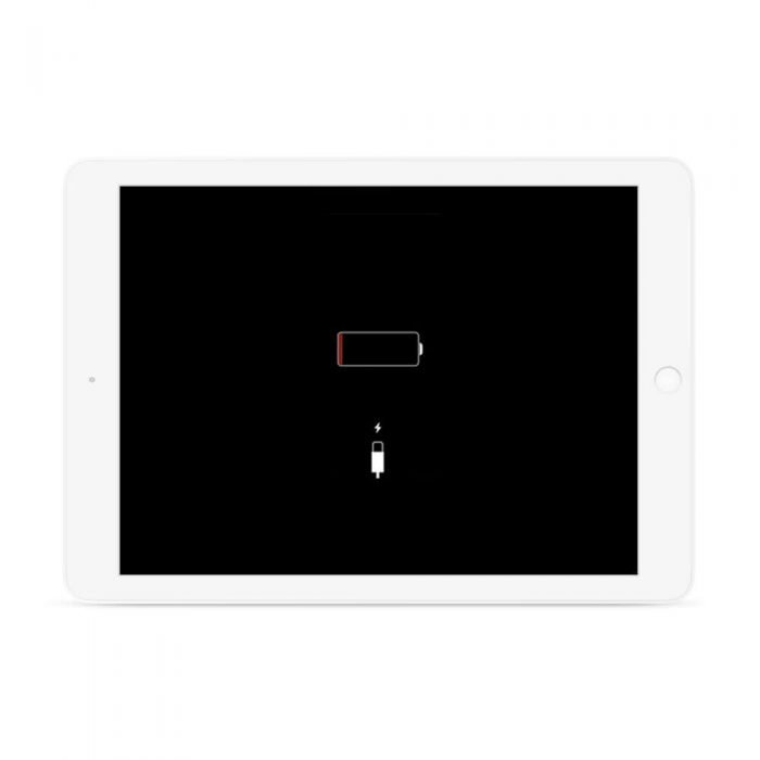 ipad stuck di logo charging