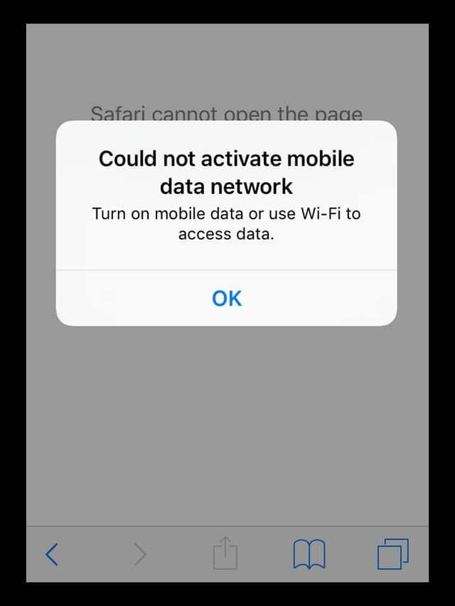 data selular tidak aktif iphone