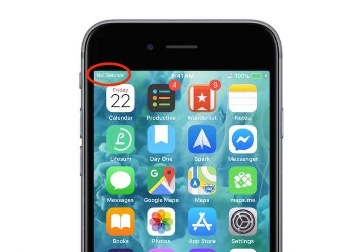iphone no service kenapa