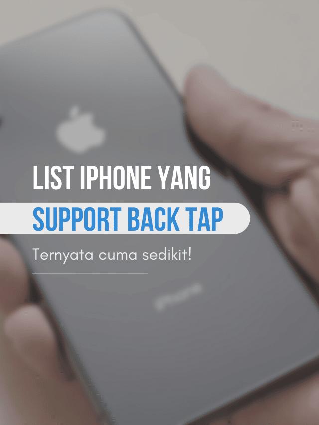 iphone apa saja yang bisa back tap